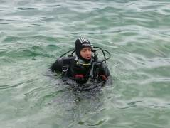 Me in the water in my new drysuit