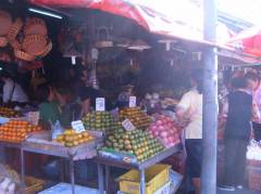 View of the market in Chiang Mai, lots of fresh fruit