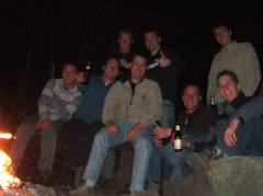 The group with our fire place
