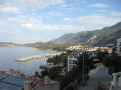 The view from our balcony to the little port of Kas where the diving boat is located