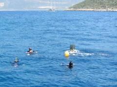 deep diving exam (15 meter)